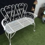 Antique white bench £130