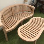 Peanut bench £275 & table £135